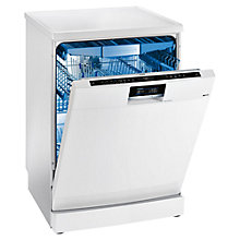 Buy Siemens SN277W01TG iQ700 speedMatic Freestanding Dishwasher, White Online at johnlewis.com