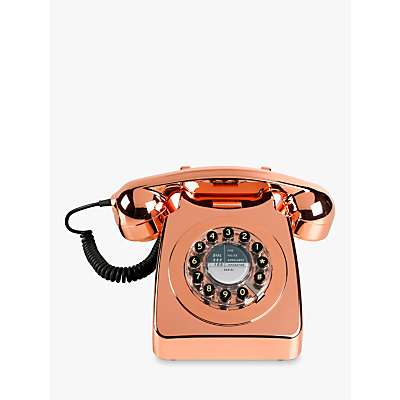 Wild & Wolf 746 1960s Corded Telephone, Copper