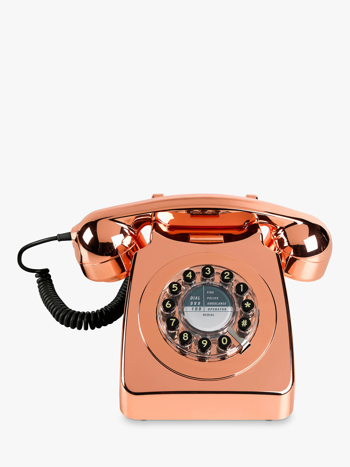 BuyWild & Wolf 746 1960s Corded Telephone, Copper Online at johnlewis.com
