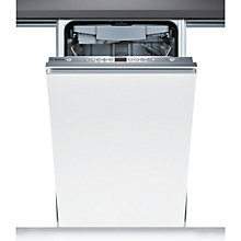 Buy Bosch SPV69T00GB Integrated Slimline Dishwasher, Brushed Steel Online at johnlewis.com