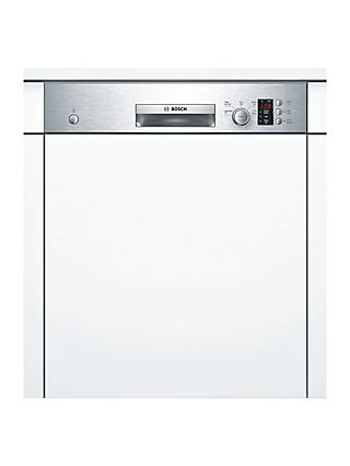 Bosch SMI50C15GB Semi-Integrated Dishwasher, A+ Energy Rating, W59.8, Stainless Steel
