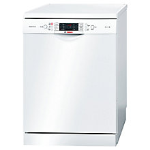 Buy Bosch SMS69M22GB Freestanding Dishwasher, White Online at johnlewis.com