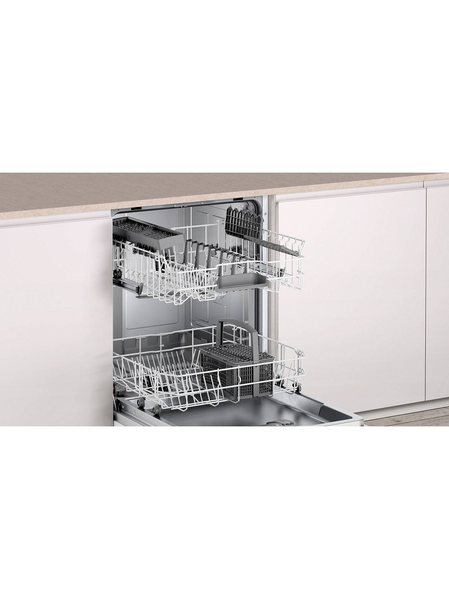 BuyBosch SMV40C00GB Integrated Dishwasher, White Online at johnlewis.com