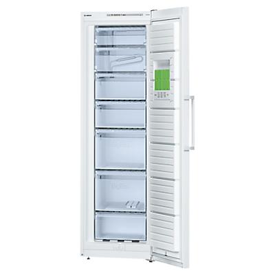 Bosch GSV36VW31G Freestanding Freezer, A++ Energy Rating, 60cm Wide, White