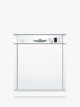 Buy Bosch SMI50C12GB Semi-integrated Dishwasher, White Online at johnlewis.com