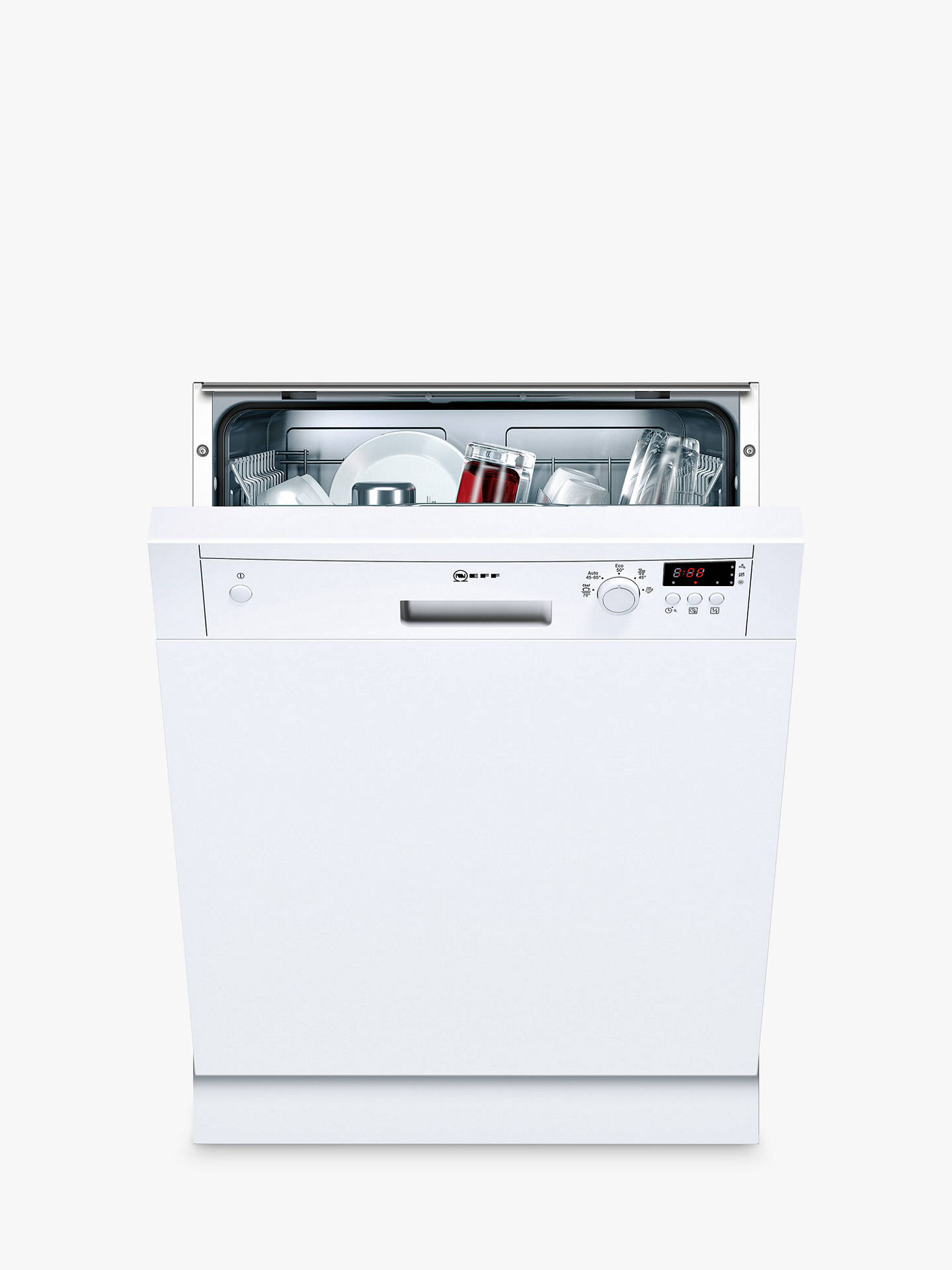 BuyNeff S41E50W1GB Semi-Integrated Dishwasher, White Online at johnlewis.com