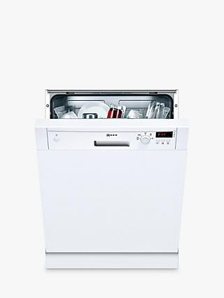 Neff S41E50W1GB Semi-Integrated Dishwasher, White