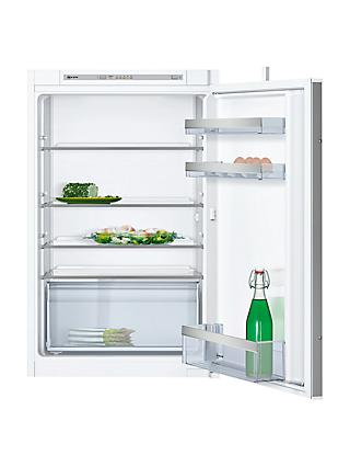 Neff KI1212S30G Integrated Fridge, A++ Energy Rating, Right-Hand Hinge, 54 cm Wide, White