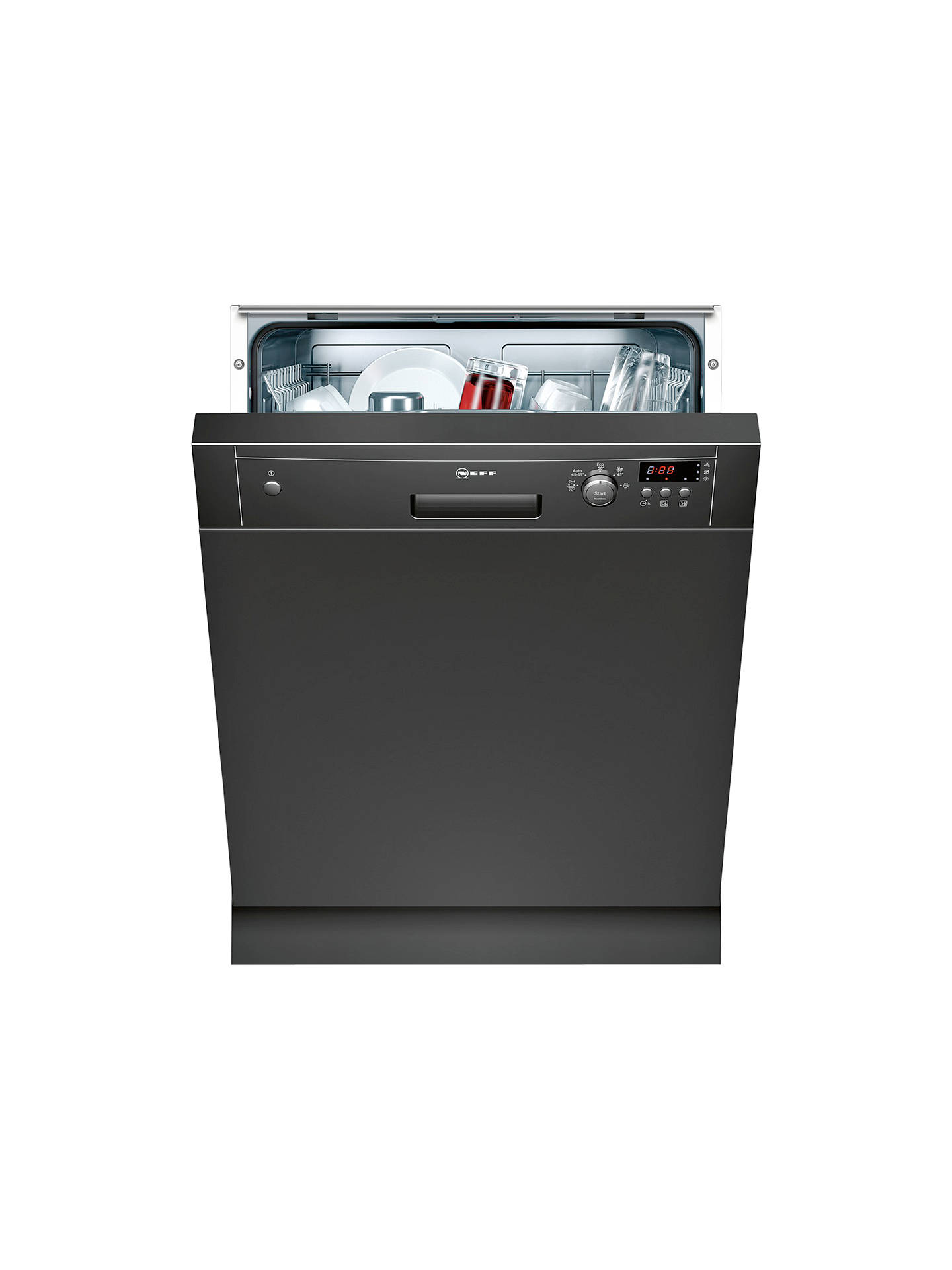 BuyNeff S41E50S1GB Semi-Integrated Dishwasher, Black Online at johnlewis.com