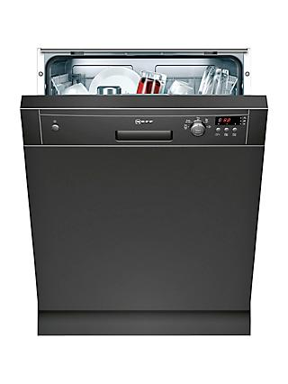Neff S41E50S1GB Semi-Integrated Dishwasher, Black