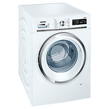 Buy Siemens WM16W590GB Freestanding Washing Machine, 8kg Load, A+++ Energy Rating, 1600rpm Spin, White Online at johnlewis.com
