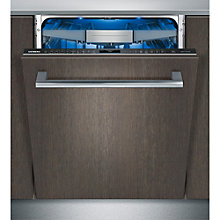 Buy Siemens SN678D10TG Fully Integrated Dishwasher, Stainless Steel Online at johnlewis.com