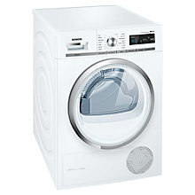 Buy Siemens WT47W590GB Condenser Tumble Dryer, 8kg Load, A++ Energy Rating, White Online at johnlewis.com