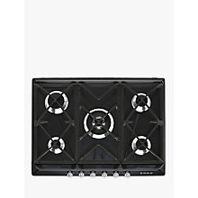 Buy Smeg SR975NGH Victoria Gas Hob, Black Online at johnlewis.com