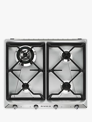 Smeg SR964XGH Victoria Gas Hob, Stainless Steel
