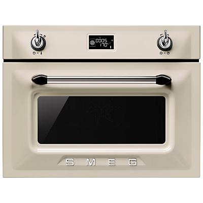 Image of Smeg SF4920VCP Victoria Combination Steam Oven, Cream