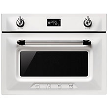 Buy Smeg SF4920MCB Victoria Integrated Compact Combi Microwave Oven, White Online at johnlewis.com