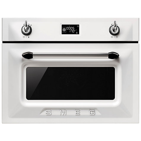 Smeg Sf4920mcb Victoria Integrated Compact Combi Microwave Oven White Online At Johnlewis