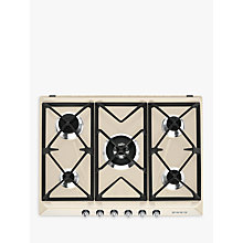 Buy Smeg SR975PGH Victoria Integrated 70cm Gas Hob, Cream Online at johnlewis.com