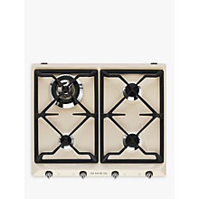Buy Smeg SR964PGH Victoria Integrated Gas Hob, Cream Online at johnlewis.com