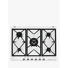 Buy Smeg SR975BGH Victoria Gas Hob, White Online at johnlewis.com