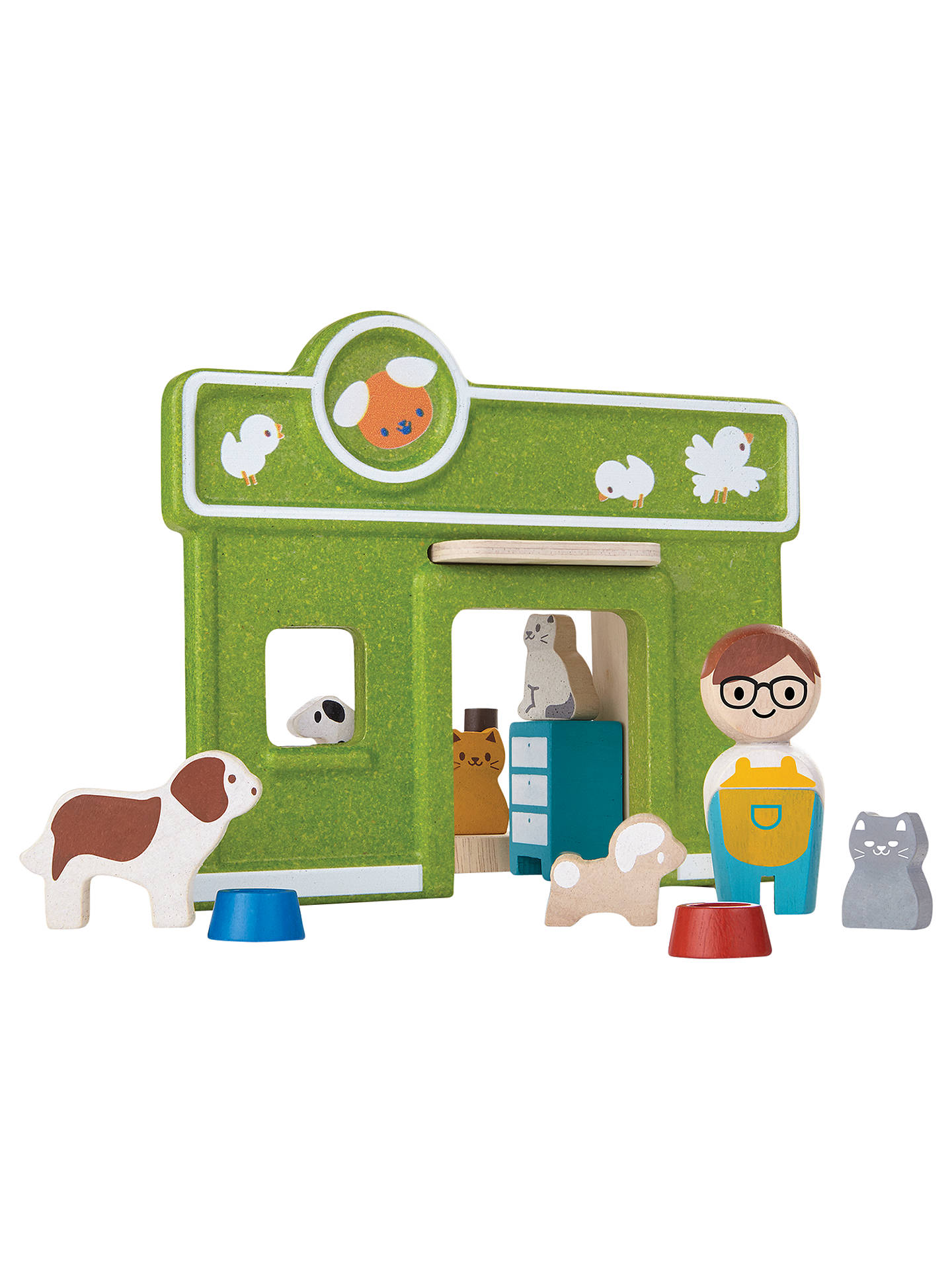 plan toys pet care play set at john lewis & partners