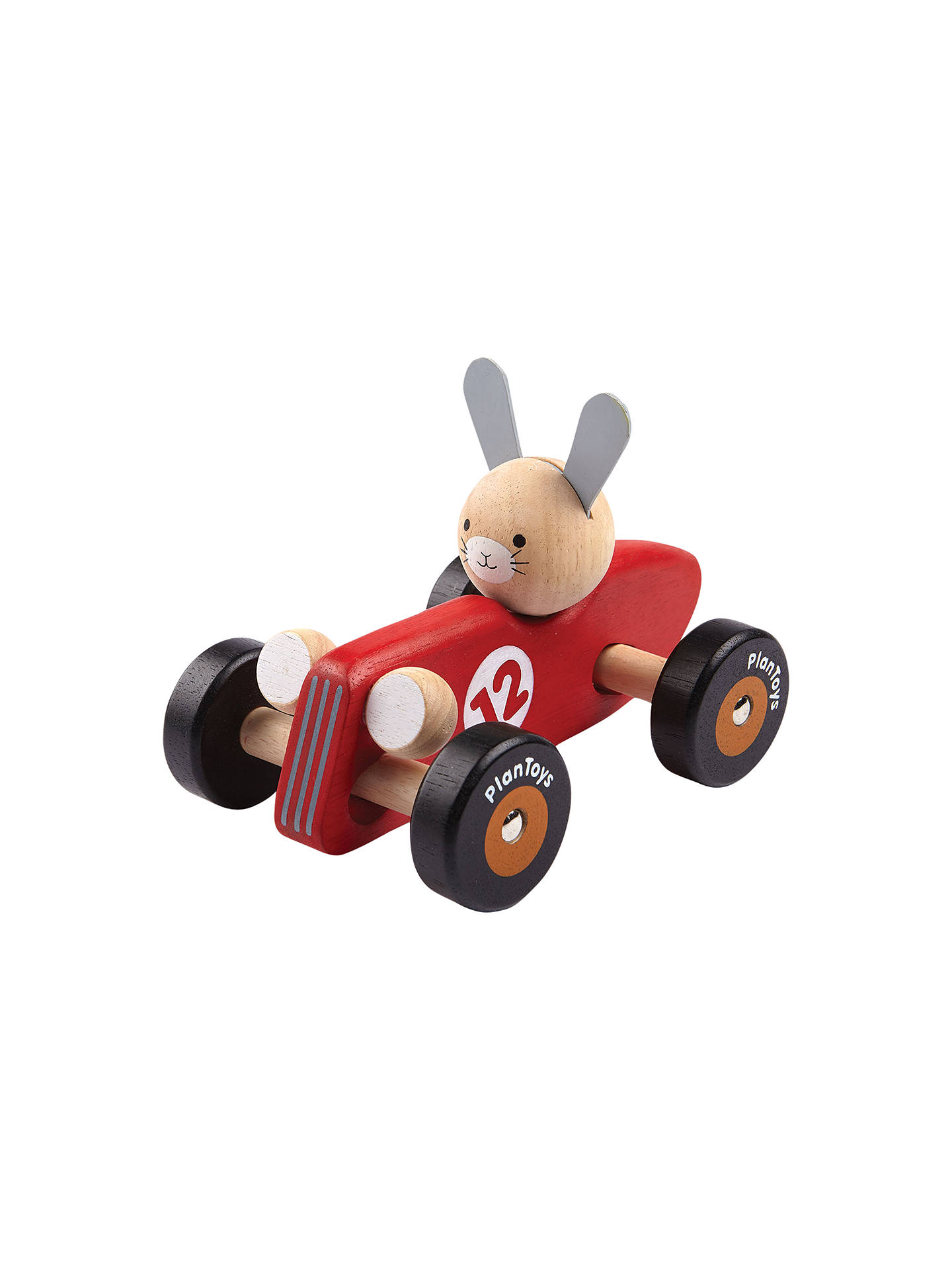 plan toys rabbit racing car at john lewis & partners