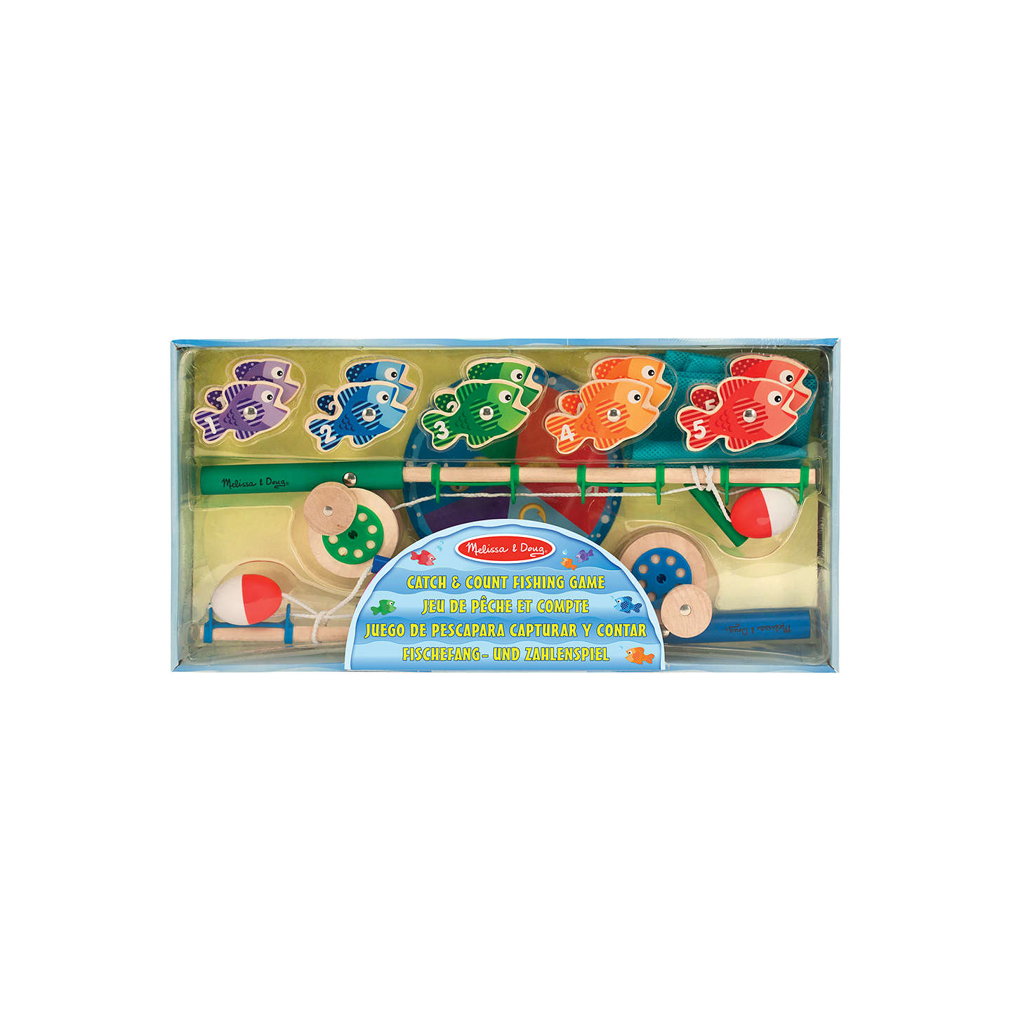 Melissa doug catch count fishing game at john lewis for Catch and count fishing game