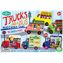 Buy Eeboo Trucks & Bus Matching Game Online at johnlewis.com