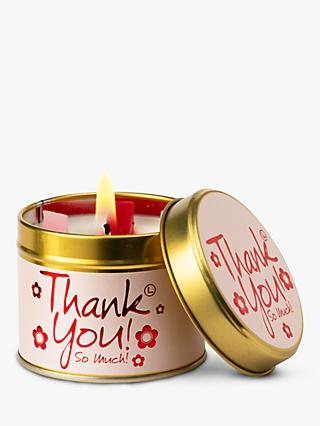 Lily-flame Thank You! Scented Tin Candle, 230g