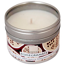 Buy Cole & Co Pomegranate Scented Candle Tin Online at johnlewis.com