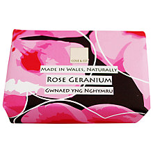 Buy Cole & Co Rose Geranium Soap, 80g Online at johnlewis.com