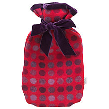 Buy Melin Tregwynt Mondo Spot Hot Water Bottle, Red Online at johnlewis.com