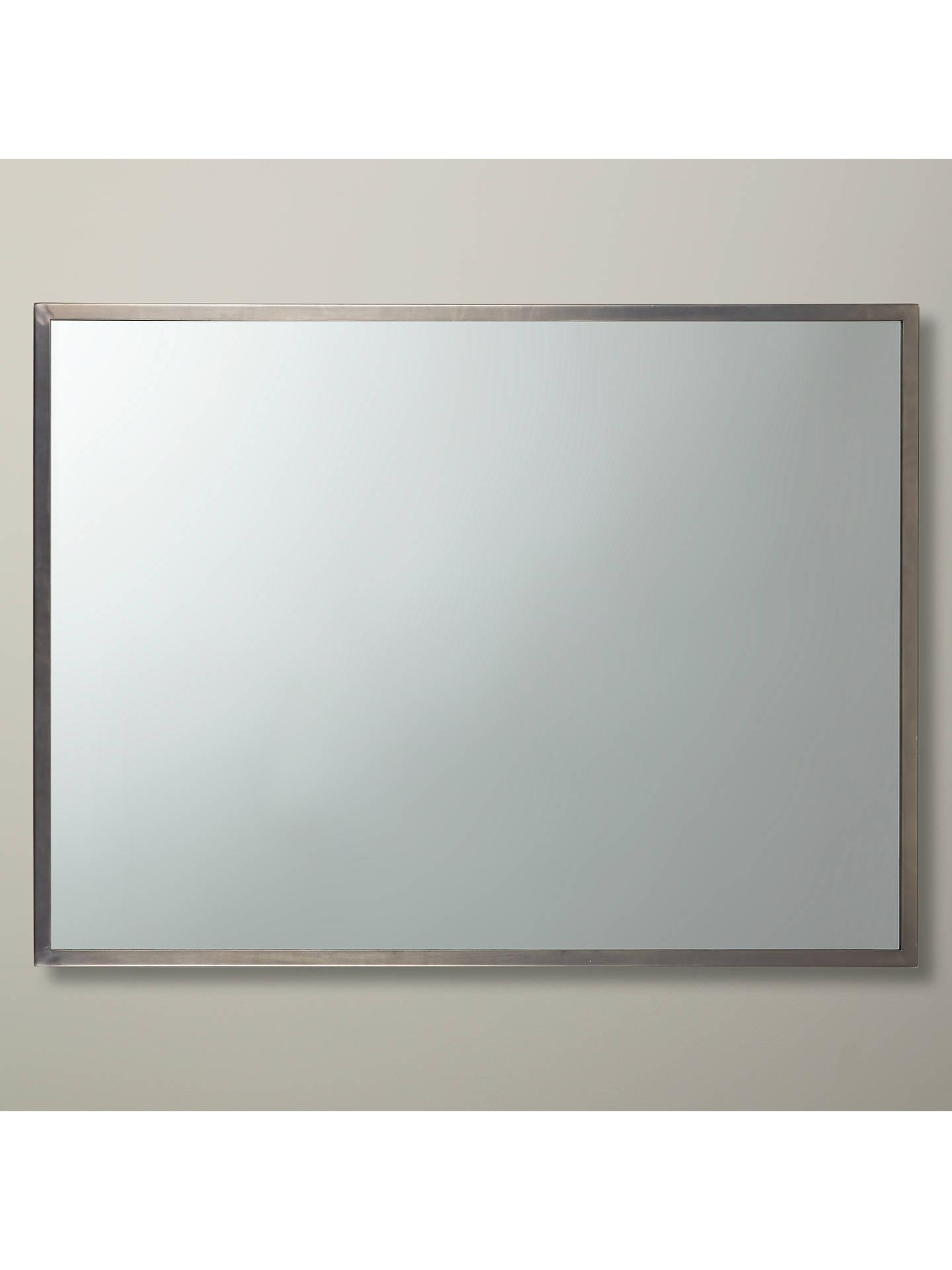 Buyjohn lewis partners ivey rectangular wall mirror 102 x 76cm pewter online at