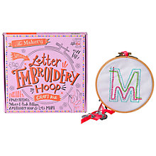 Buy The Makery Make Your Own Embroidery Hoop Craft Kit Online at johnlewis.com