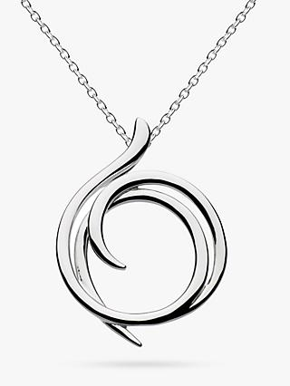 Kit Heath Sterling Silver Helix Wrap Pendant Necklace, Silver