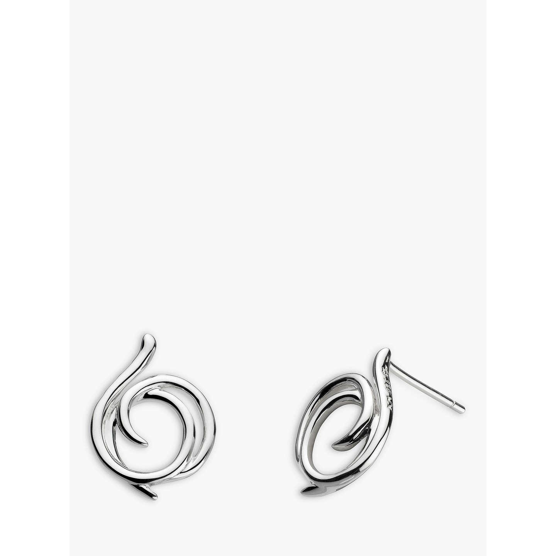 Kit Heath Sterling Silver Helix Wrap Drop Earrings HaBM29