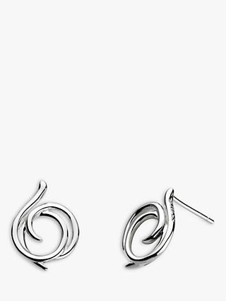 Kit Heath Sterling Silver Large Helix Wrap Stud Earrings, Silver