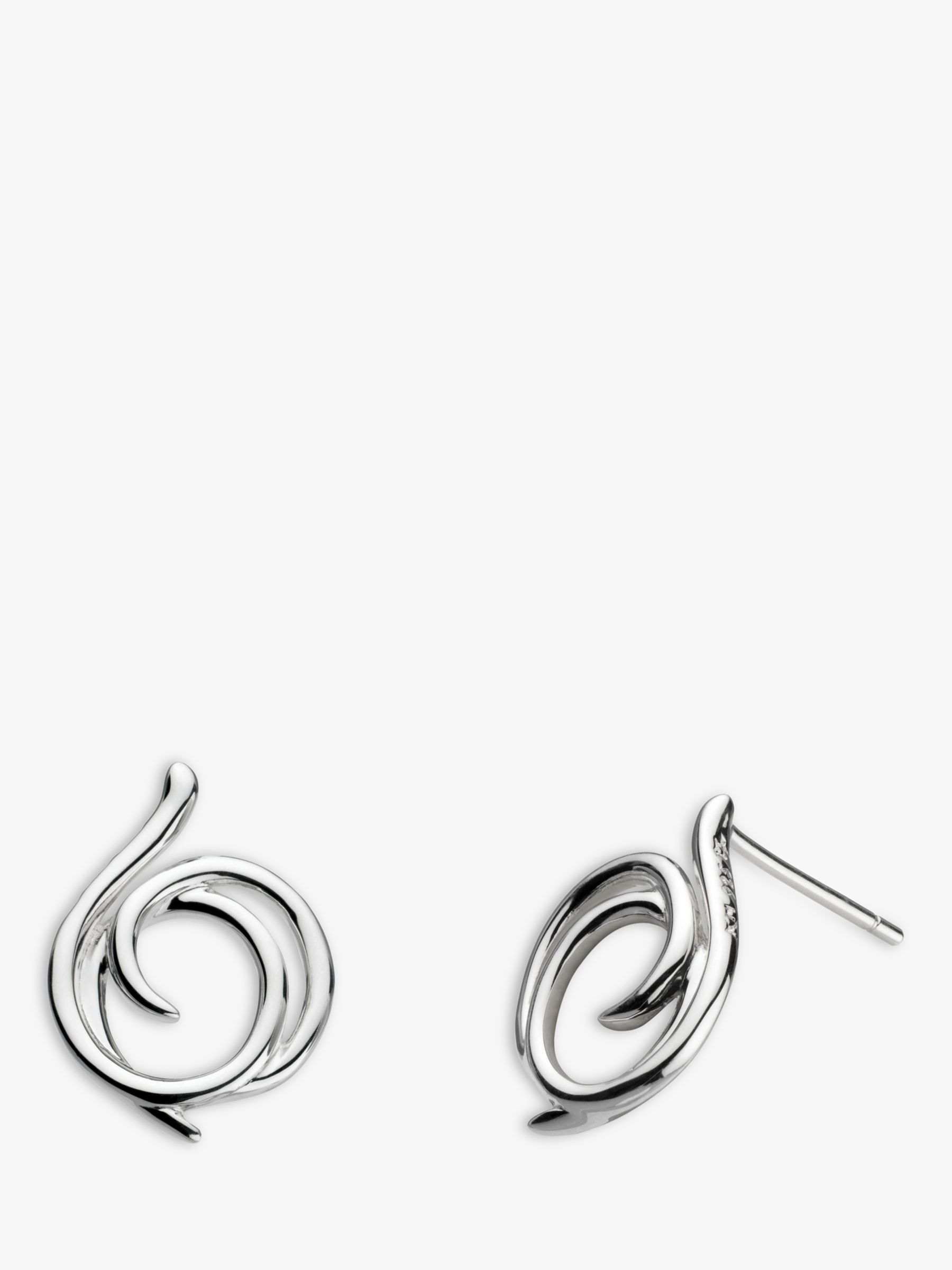 Kit Heath Kit Heath Sterling Silver Large Helix Wrap Stud Earrings, Silver