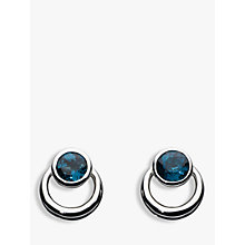 Buy Kit Heath Sterling Silver Simmer Loop Blue Topaz Earrings, Silver Online at johnlewis.com