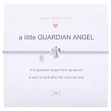 Buy Joma Sterling Silver Plated A Little Guardian Angel Bracelet, Silver Online at johnlewis.com
