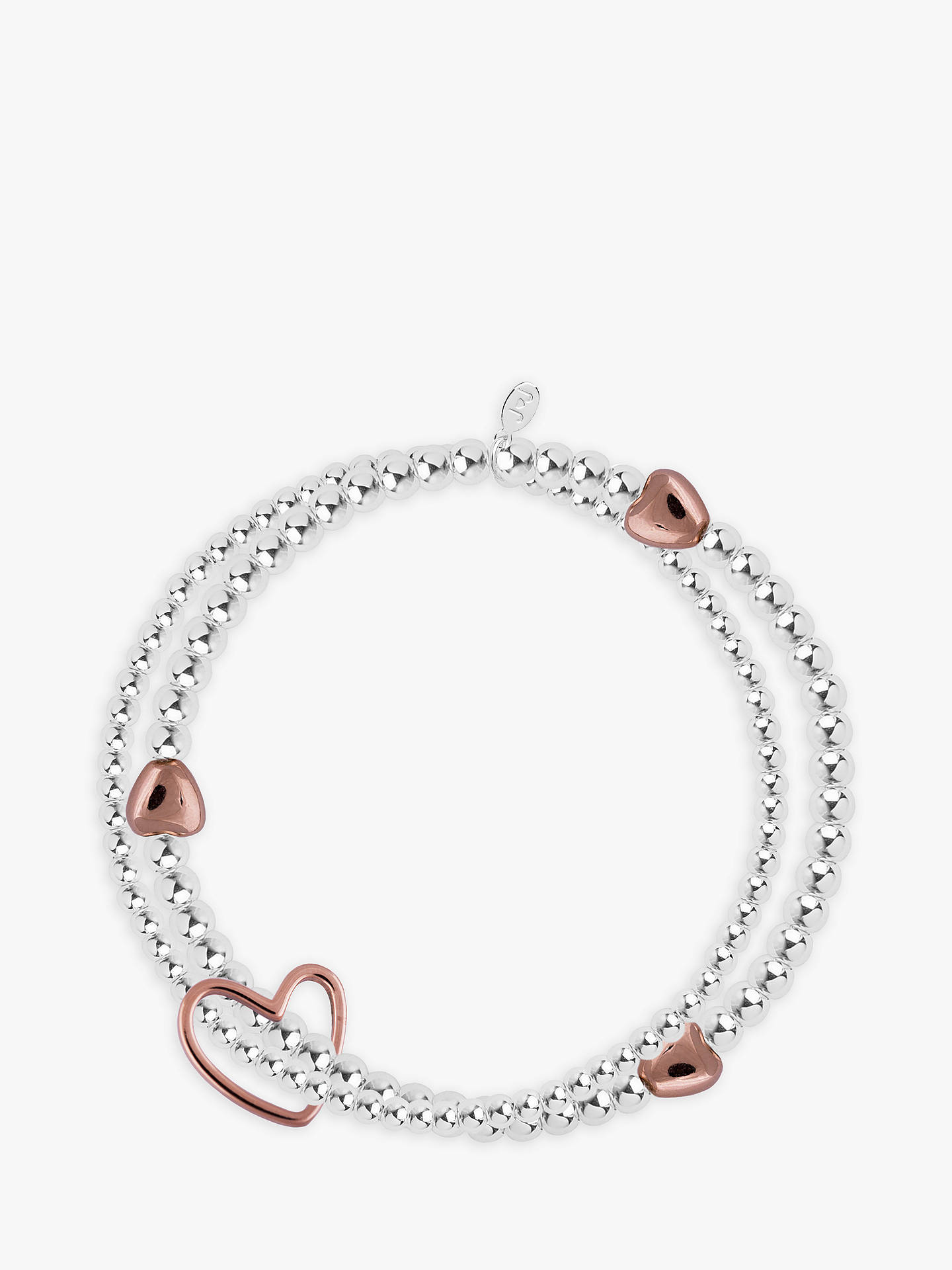 Joma Lila Sterling Silver Plated Rose Gold Heart Bracelet Online At Johnlewis