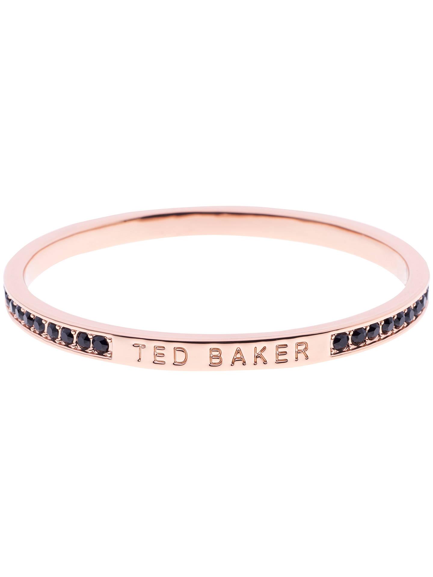 Ted Baker Clem Swarovski Crystal Bangle Rose Gold Black Online At Johnlewis