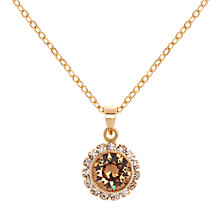 Buy Ted Baker Sela Crystal Daisy Pendant Necklace, Gold/Clear Online at johnlewis.com