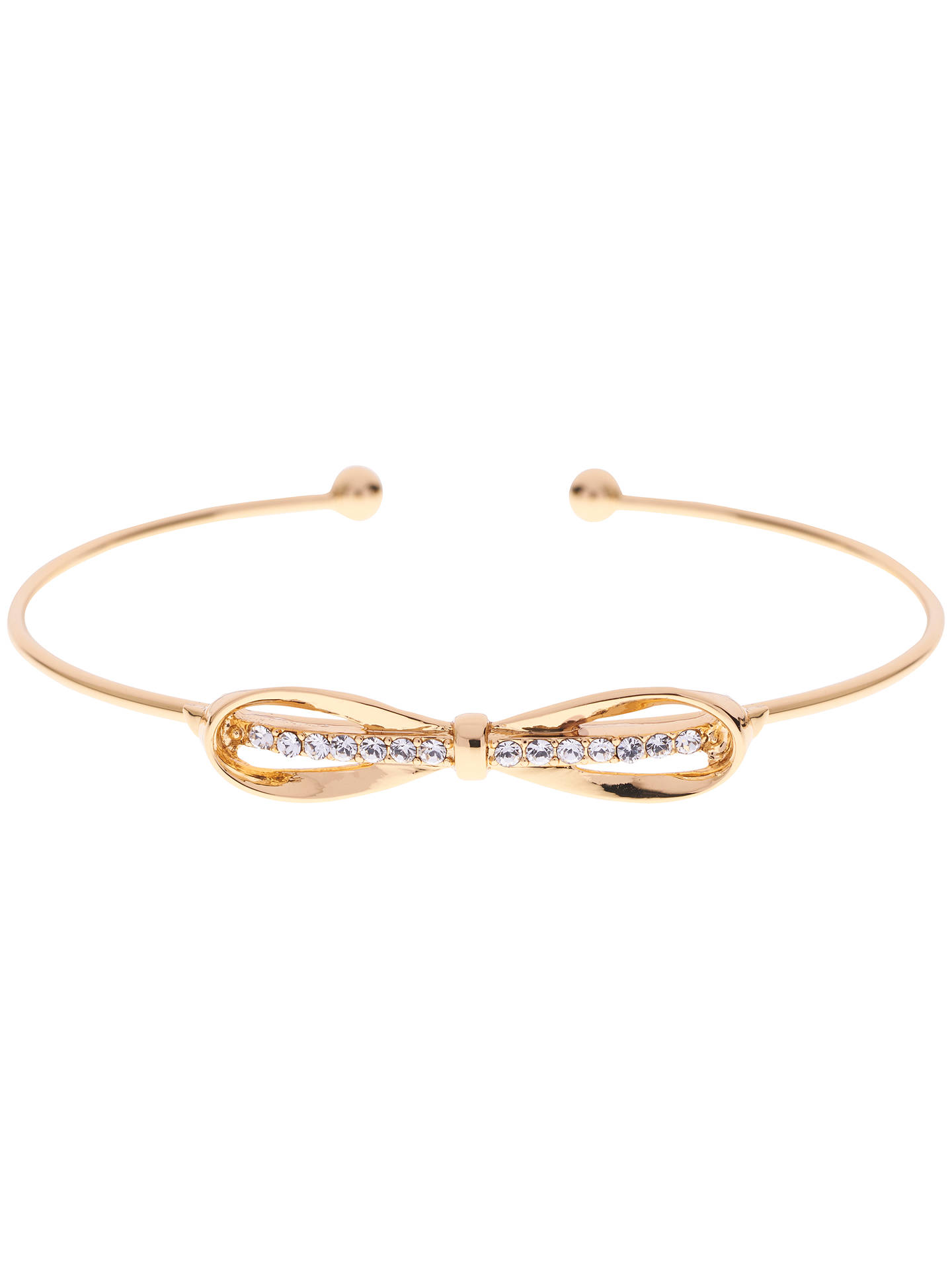 6f2f8cc2588f Ted Baker Sorina Bow Detail Crystal Cuff at John Lewis   Partners
