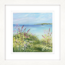 Buy Diane Demirci - Cliff Top Path II Framed Print, 57 x 57cm Online at johnlewis.com