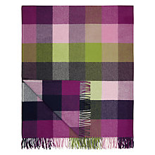 Buy Avoca Pioneer Wool Throw, Purple Online at johnlewis.com