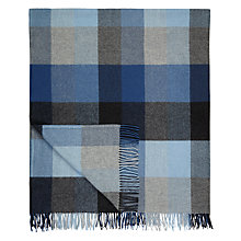 Buy Avoca Wool Throw, Denim Blue Online at johnlewis.com