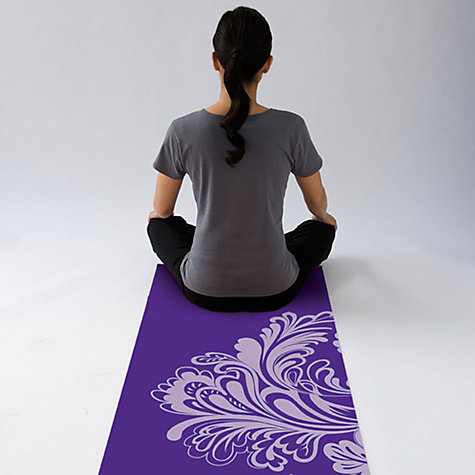 buy gaiam watercress yoga mat purple  john lewis