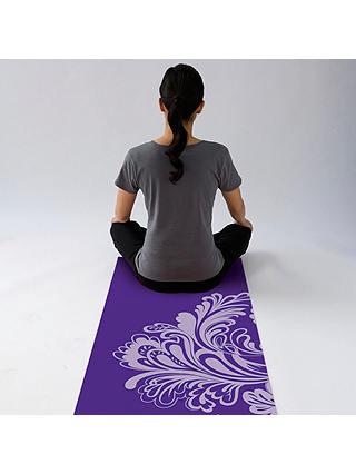 Gaiam Watercress Yoga Mat Purple At John Lewis Amp Partners